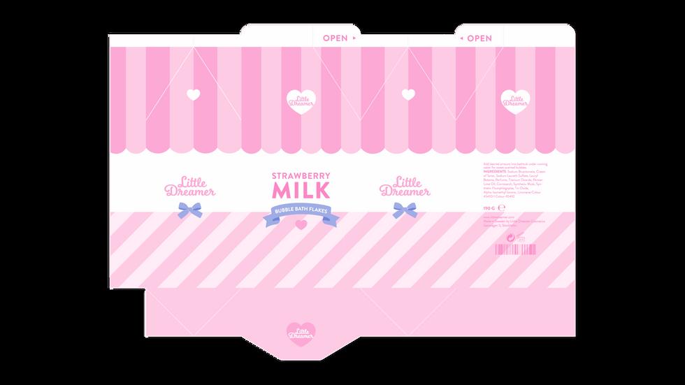 Strawberry Milk Dieline