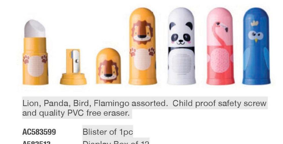 Animal Motive Eraser & Sharpener