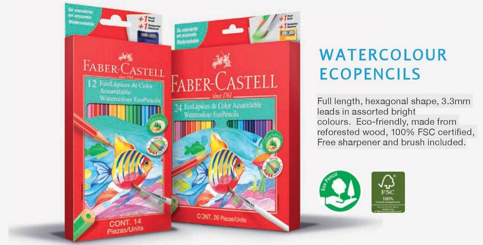 24 Watercolour EcoPencils