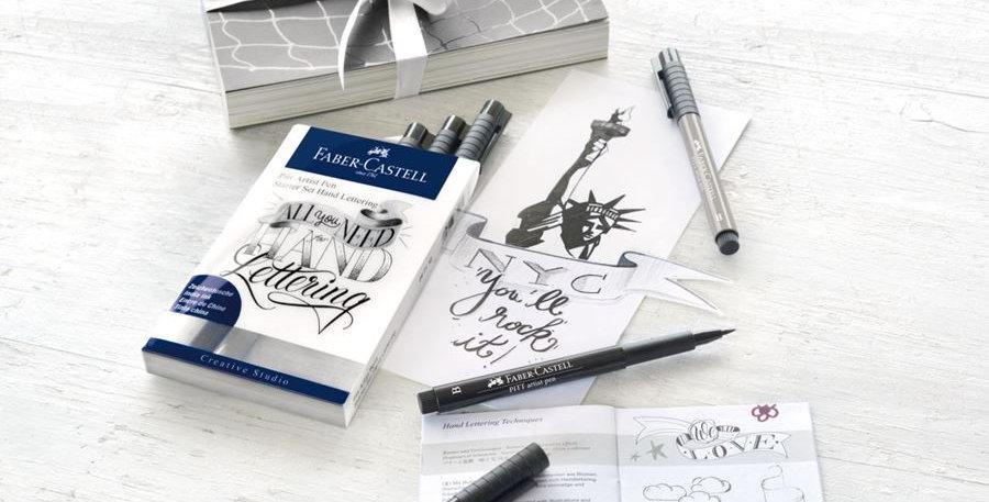 Pitt Artist Pen India ink pen, set of 8 Lettering, Start