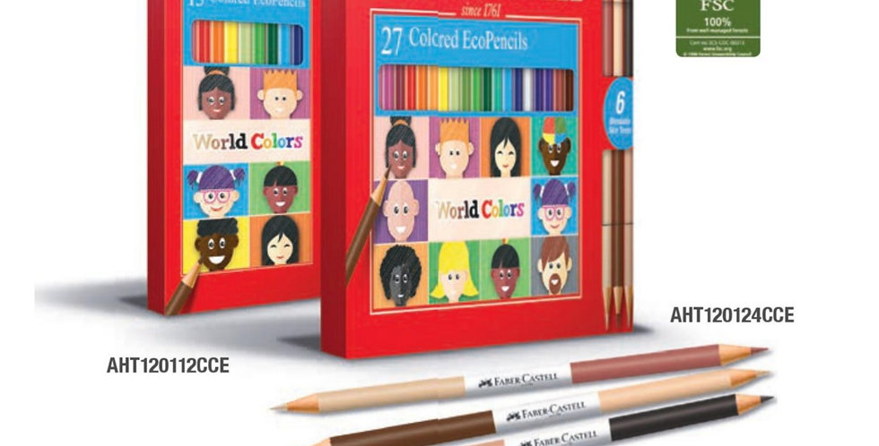 24 World Colour Pencils