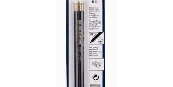 2 Goldfaber HB Eraser Tip Pencils