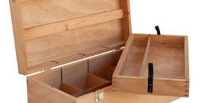 Prime Art Deep Wooden Artbox with Removable Tray