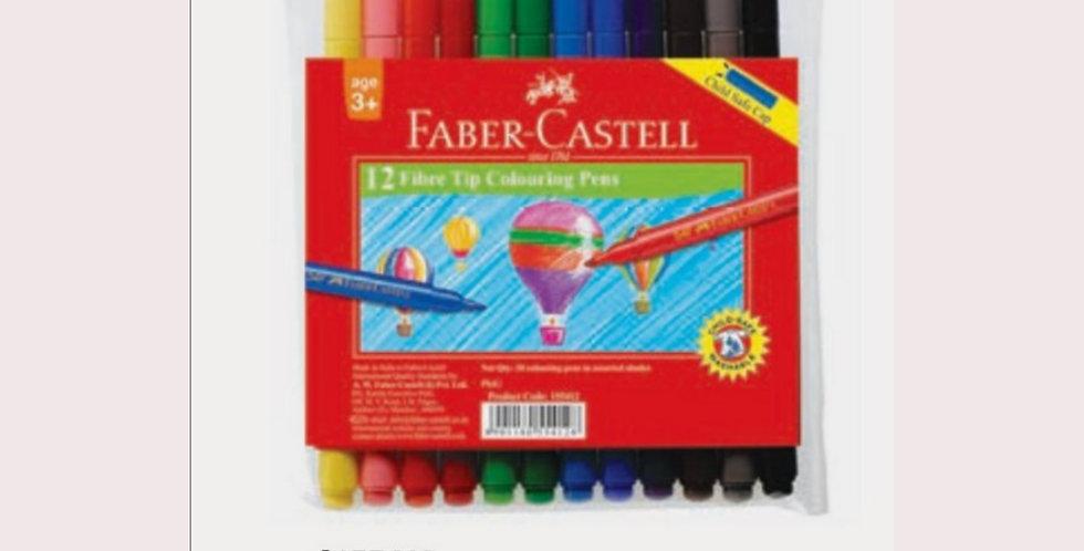 12 Fibre Tip Pens