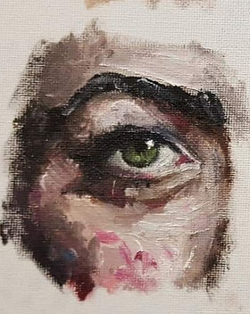 eye painting, oil painting