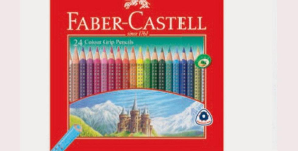 24 Colour Grip Pencils