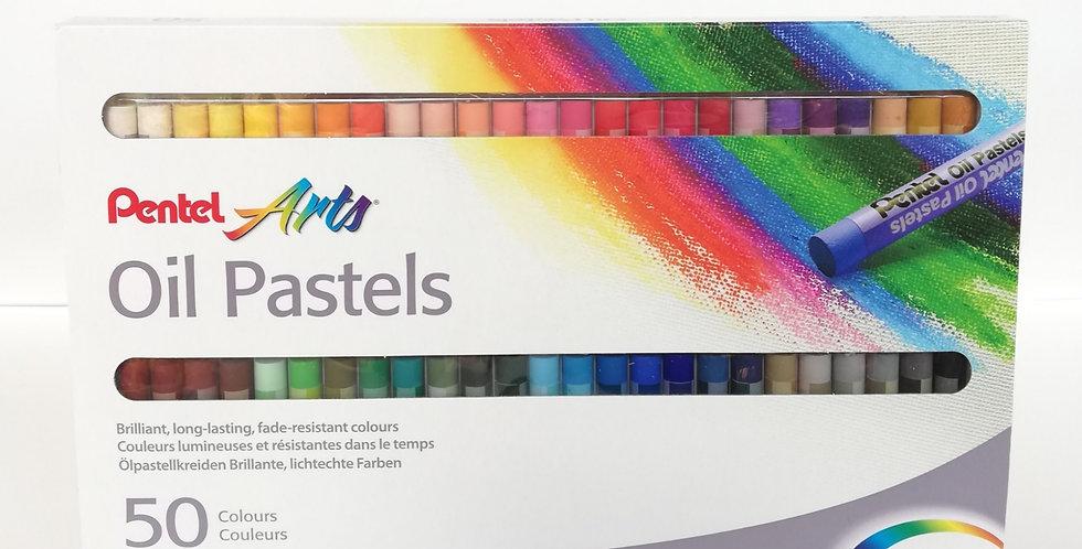 Pentel Oil Pastels 50pc