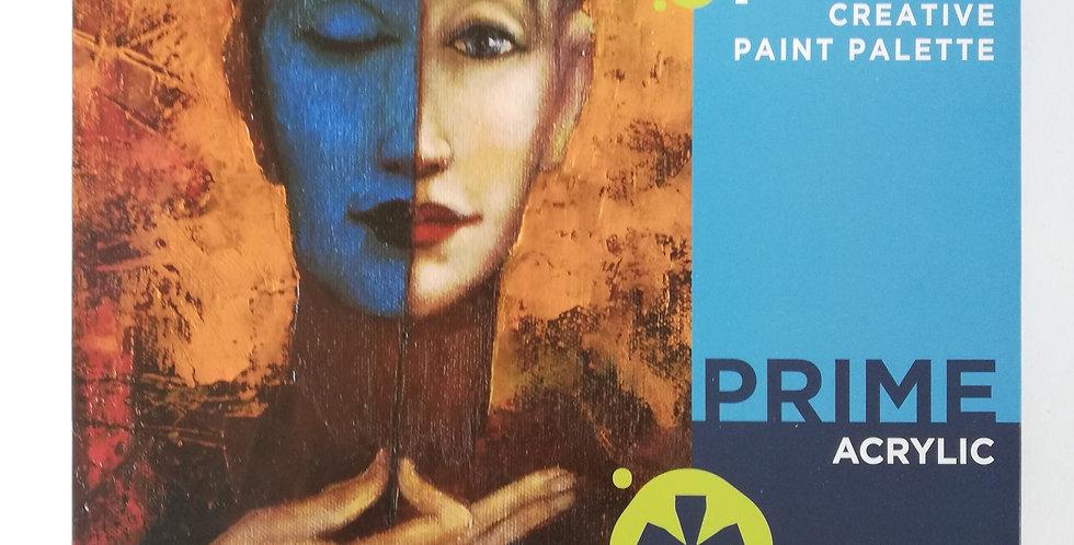 Prime Art Acrylic Paint Set 18 x 12ml Tubes