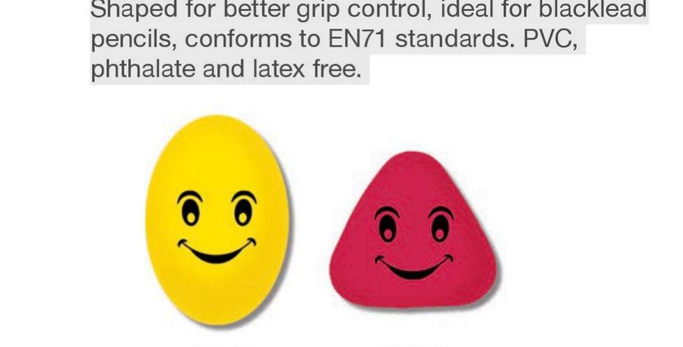 Smile Grip Shaped Erasers