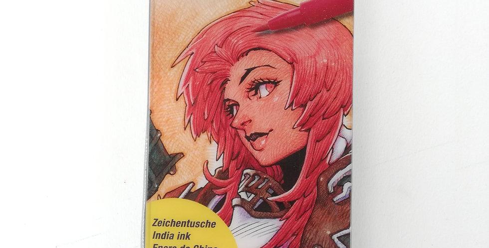 PITT Artist Pens Brush Manga Kaoiro Set 6pc