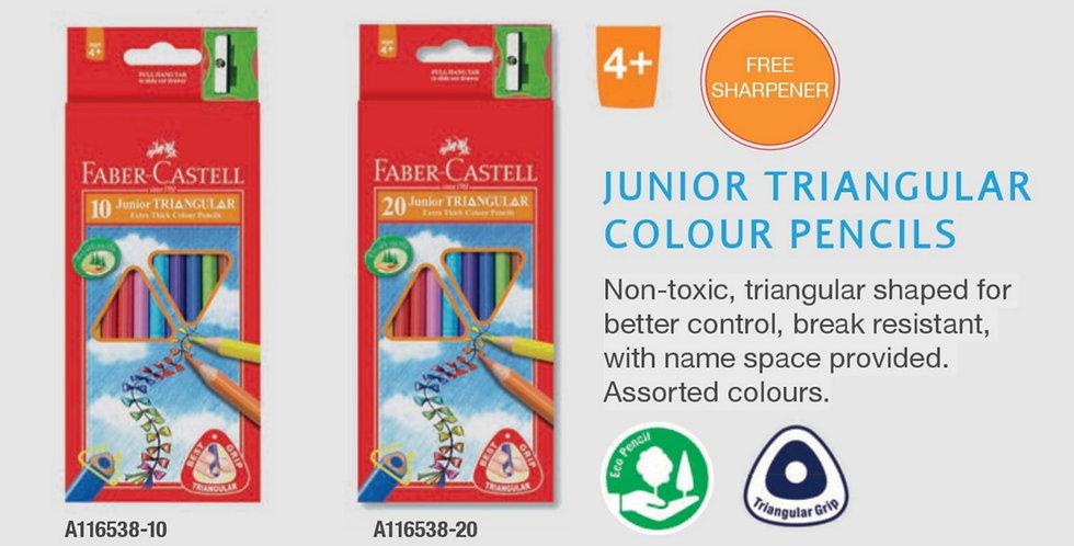 20 Junior Triangular Colour Pencils