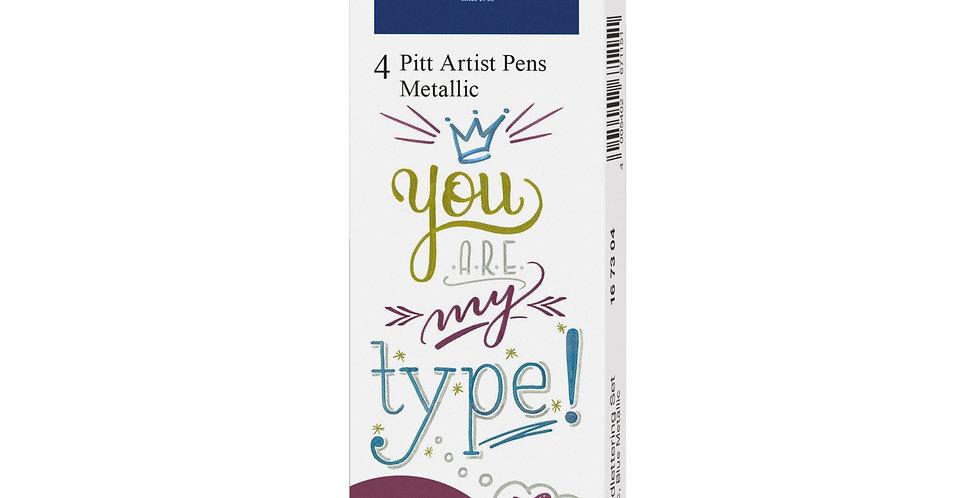 PITT Artist Pens Metallic 4pc