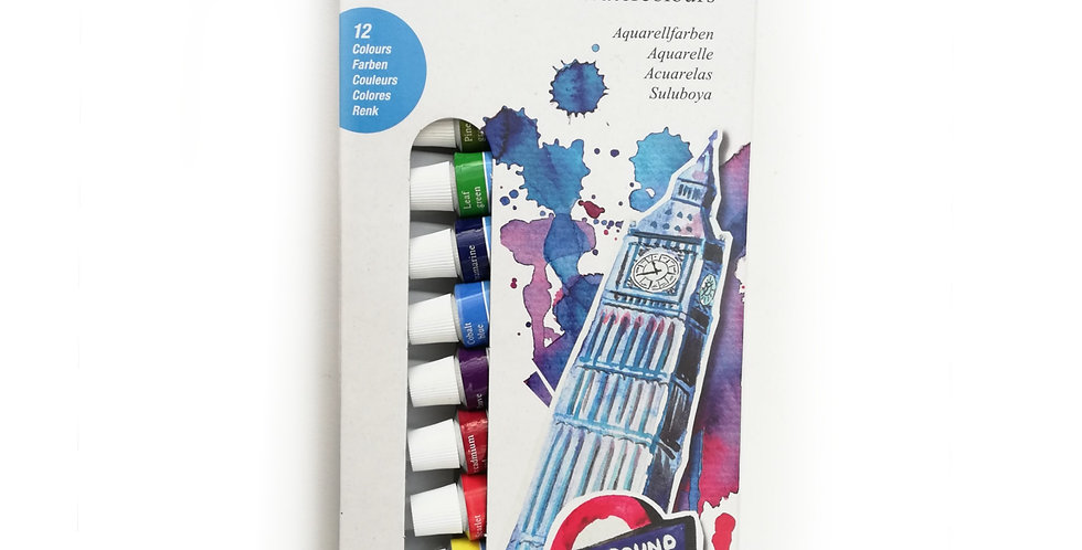 Starter kit Watercolour box of 12