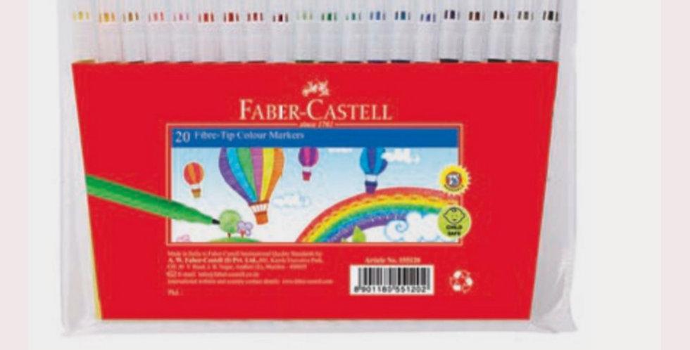 20 Fibre Tip Colour Markers