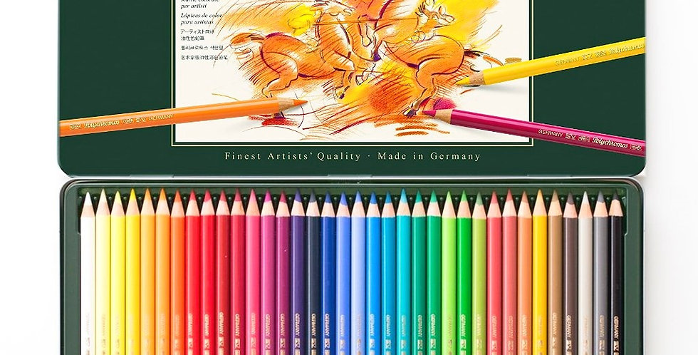 Faber-Castell Polychromos Artists' Color Pencils Tin