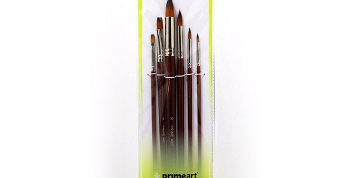 Prime Art Golden Brown Synthetic 101 Set 6 Pcs