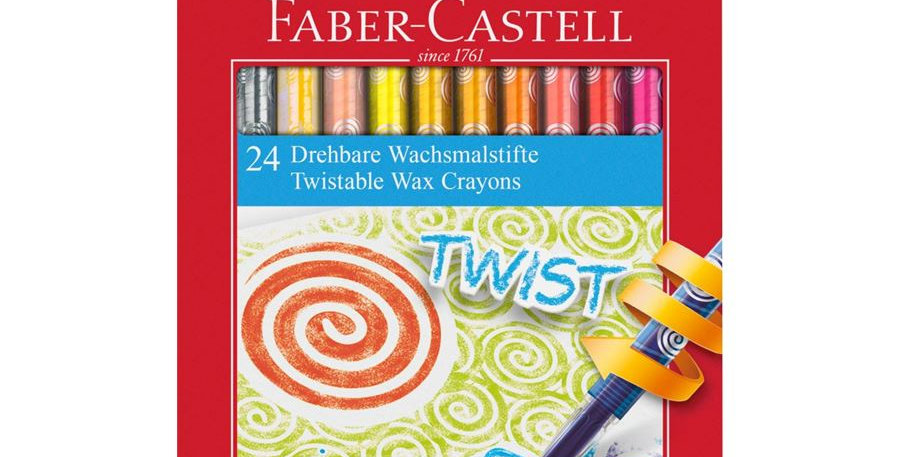 Retractable Wax Crayons 12pc