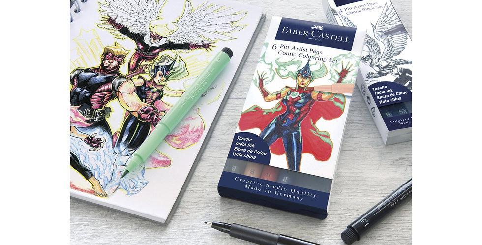Faber Castell comic Pitt Artist Pen Sets