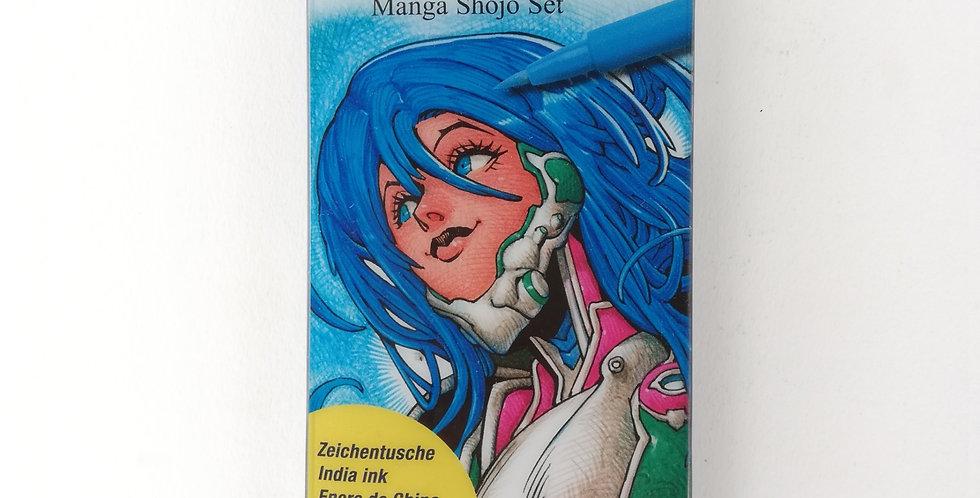 PITT Artist Pens Manga Shojo Set 6pc