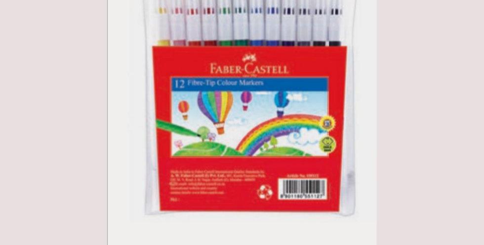 12 Fibre Tip Colour Markers