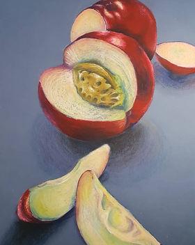apricot pastel sketch