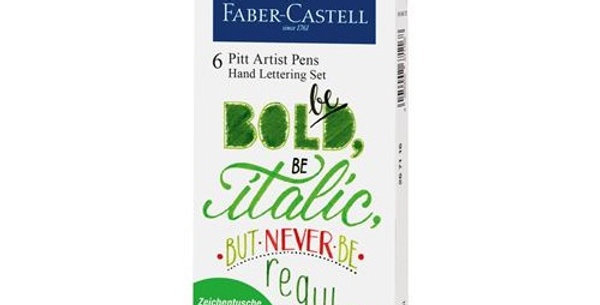 Pitt Artist Pen India ink pen, set of 6 Lettering, Green