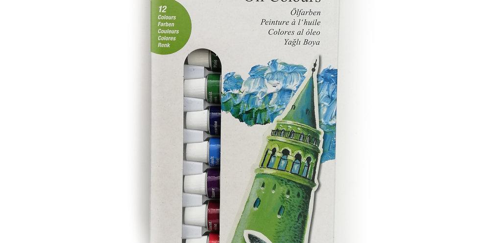 Starter set oil colours 12ct box