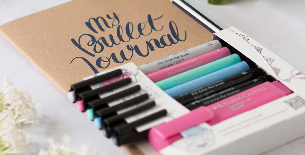 Bullet journaling starter set, 9 pieces