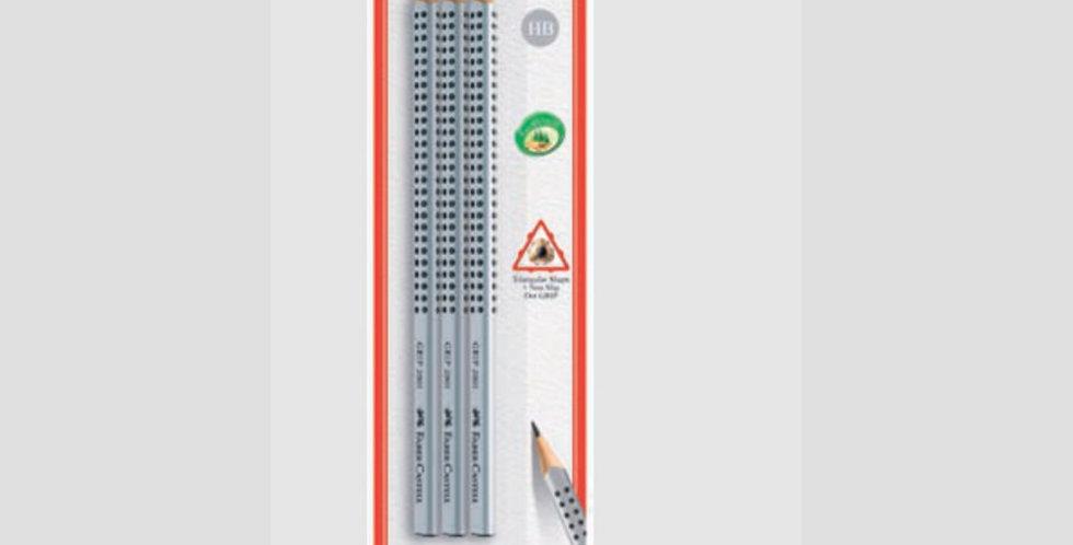 Blister Grip 3 HB Pencils