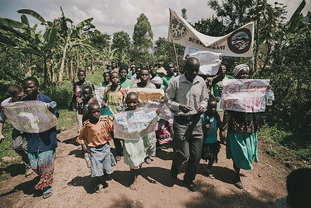 A public health march in Eastern Uganda