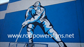 Signwriter Perth signs in Paint