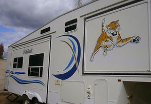 signs in Paint  Caravan signs, signwriting perth vehicles
