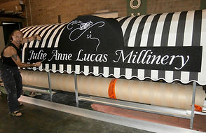 Banner signs inPaint, Canvas signs, Signwriting Perth Canvas Awnings
