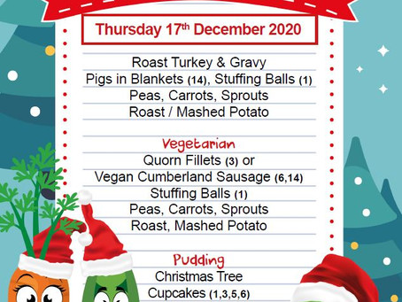 Christmas Menu - 17th December