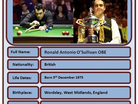 Famous Brit of the Week #62 - Ronnie O'Sullivan