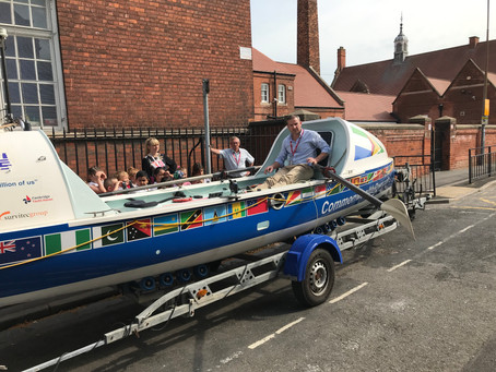 Richard Allen, Transatlantic Rower visits Stepney