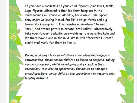 Activity Ideas for EYFS & Year 1 pupils 20th May