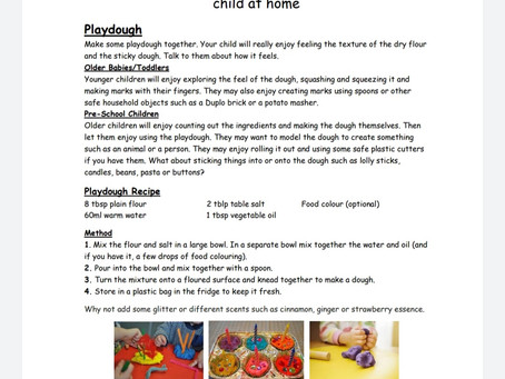 Activity Ideas for EYFS pupils