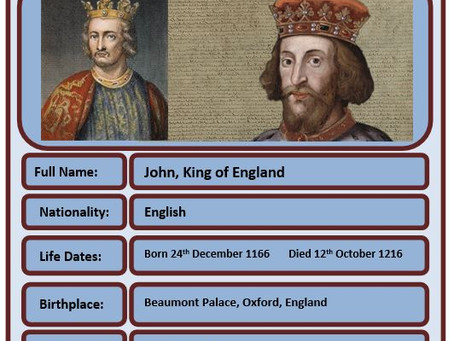Famous Brit of the Week #66 - King John