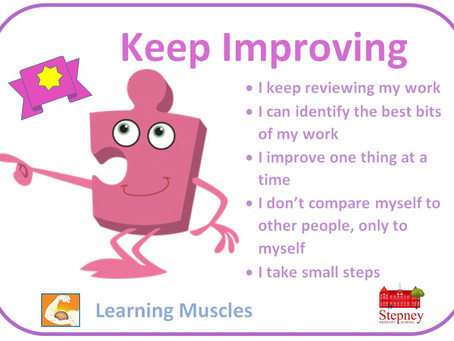 Growth Mindset Learning Muscle of the Week: Keep Improving