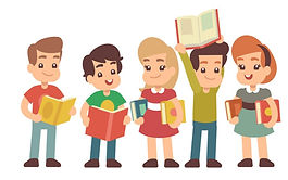 cartoon-preschool-children-with-books-le