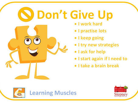 Growth Mindset Learning Muscle of the Week: Don't Give Up