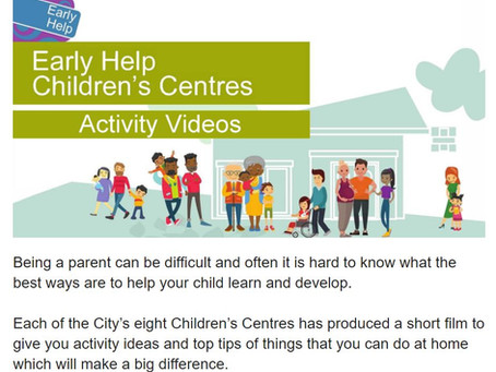 Supporting Parents Videos from Children's Centres Services