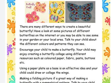 Activity Ideas for EYFS & Year 1 pupils 2nd July