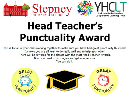 Head Teacher's Punctuality Award Winner