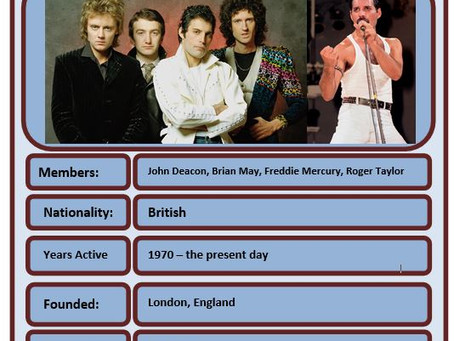 Famous Brit of the Week #70 - Queen
