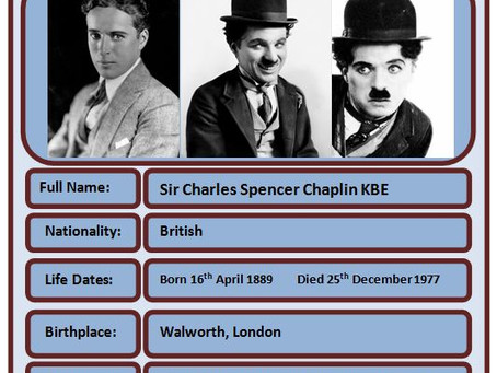 Famous Brit of the Week #58 - Charlie Chaplin