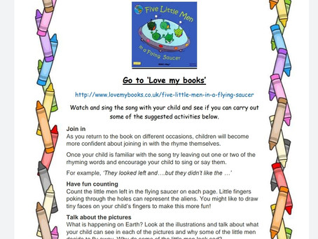 Activity Ideas for EYFS & Year 1 pupils 29th April