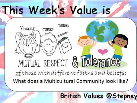 British Values Ethos of the Week