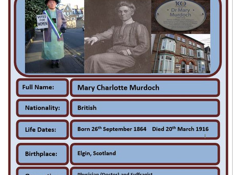 Famous Brit of the Week #76 - Dr Mary Murdoch